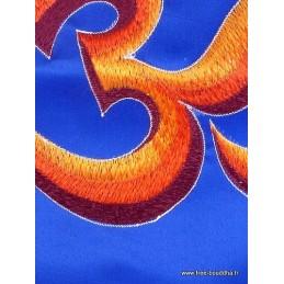 Tenture tibétain Om indien jaune d'or TENOH3