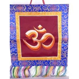 Bannière tenture tibétaine OM