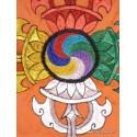 Bannière tenture tibétaine DOUBLE DORJE BRO3