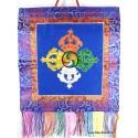 Bannière tenture tibétaine DOUBLE DORJE
