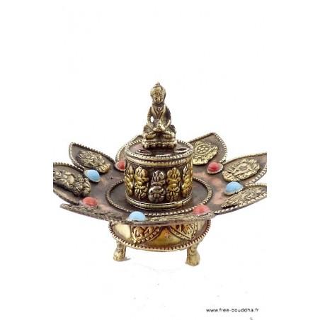 Brûleur d'encens tibétain 8 SIGNES AUSPICIEUX