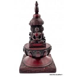 Stupa bouddhiste en résine 15 cm Objets rituels bouddhistes STUPA49