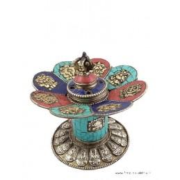 Brûleur d'encens tibétain sur pied en pierres naturelles ref 3032.6