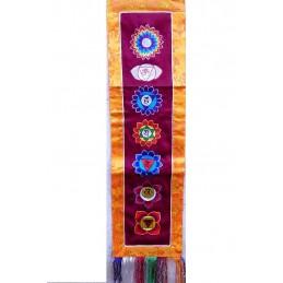 Bannière tibétaine SEPT CHAKRAS