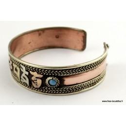 Bracelet tibétain MANTRA DE CHENREZI Bijoux tibetains bouddhistes  BT7.36