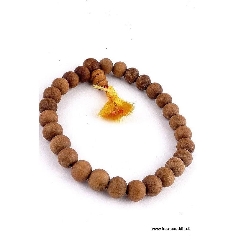 Bracelet mala tibétain BOIS DE SANTAL ref 85
