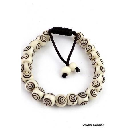 Bracelet mala tibétain Spirales