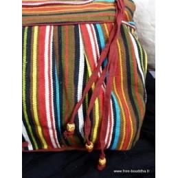 Sac indien porté épaule BLEU SACN5