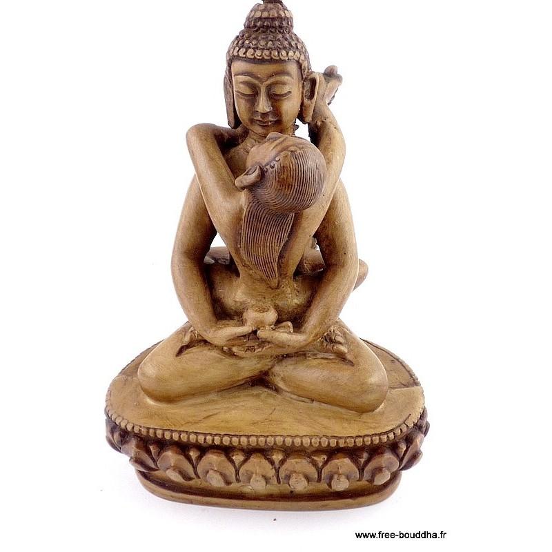 Artisanat tibétain statuette Bouddha SHAKTI (Samantabhadra)
