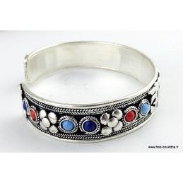Bracelet bouddhiste tibétain en métal blanc Bijoux tibetains bouddhistes  ref105