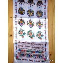 Khata tibétain satin coloré Objets rituels bouddhistes KTC