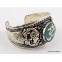 Gros bracelet tibétain OM hindouiste BHB51.4