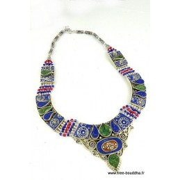 Collier traditionnel Ethnique Tibétain COTIB3