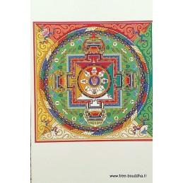 Carte postale bouddhiste MANDALA de VAJRASATTVA