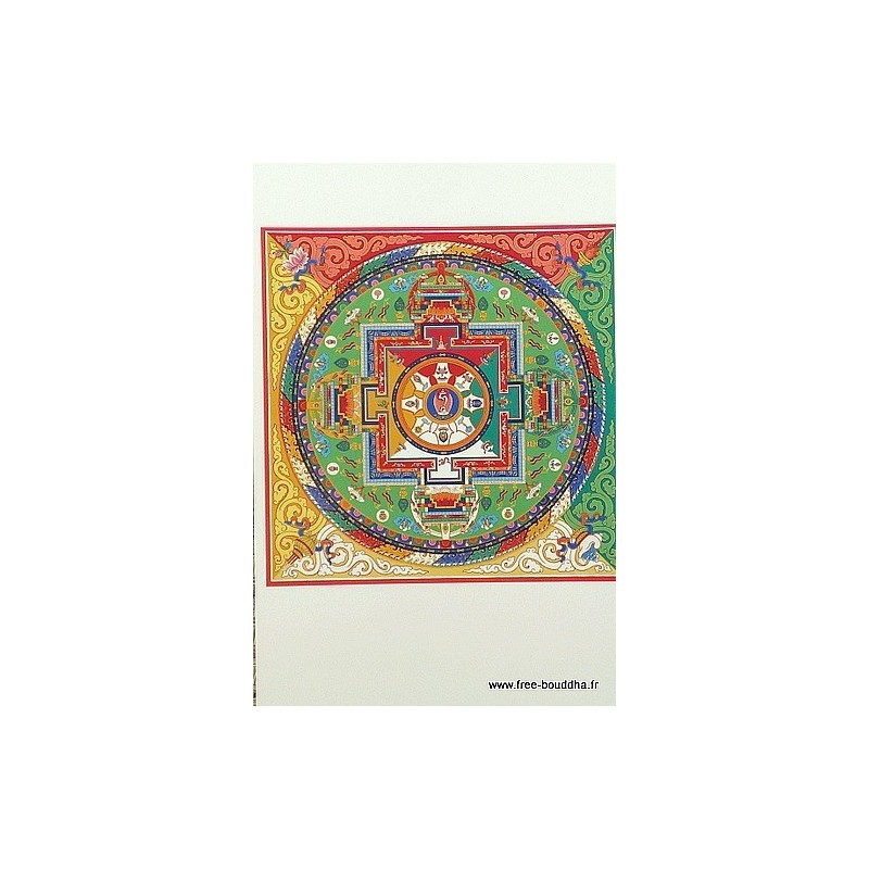Carte postale bouddhiste MANDALA de VAJRASATTVA CPB36