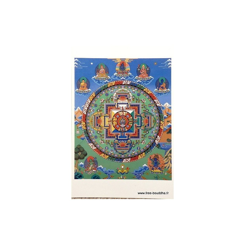 Carte postale bouddhiste MANDALA de CHENREZI CPB38