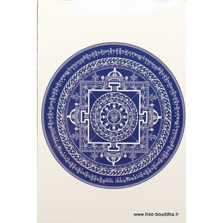 Carte postale Mandala Bouddha de Medecine