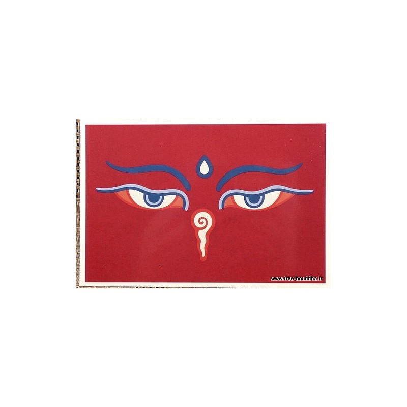 Carte postale bouddhiste YEUX DU STUPA