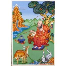 Carte postale bouddhiste LONGUE VIE