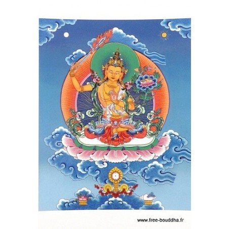 Carte postale bouddhiste MANJUSHRI