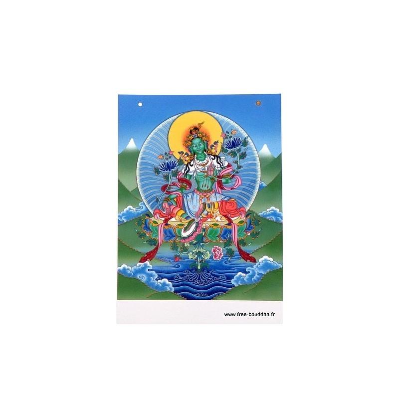 Carte postale bouddhiste TARA VERTE CPB47