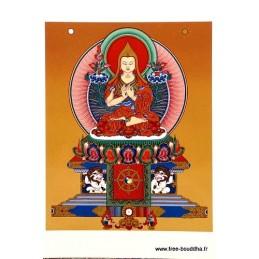 Carte postale bouddhiste LAMA TSONG KHAPA