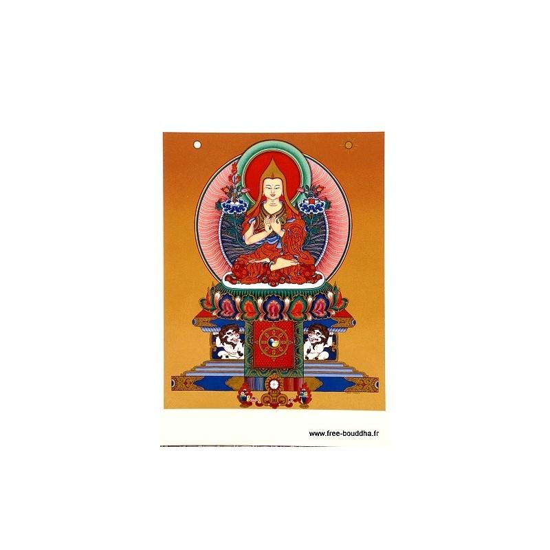 Carte postale bouddhiste LAMA TSONG KHAPA CPB48