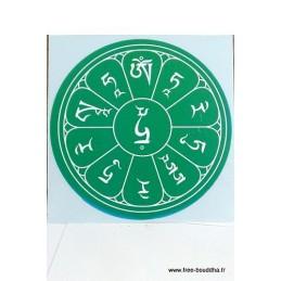 Sticker adhésif MANTRA DE TARA