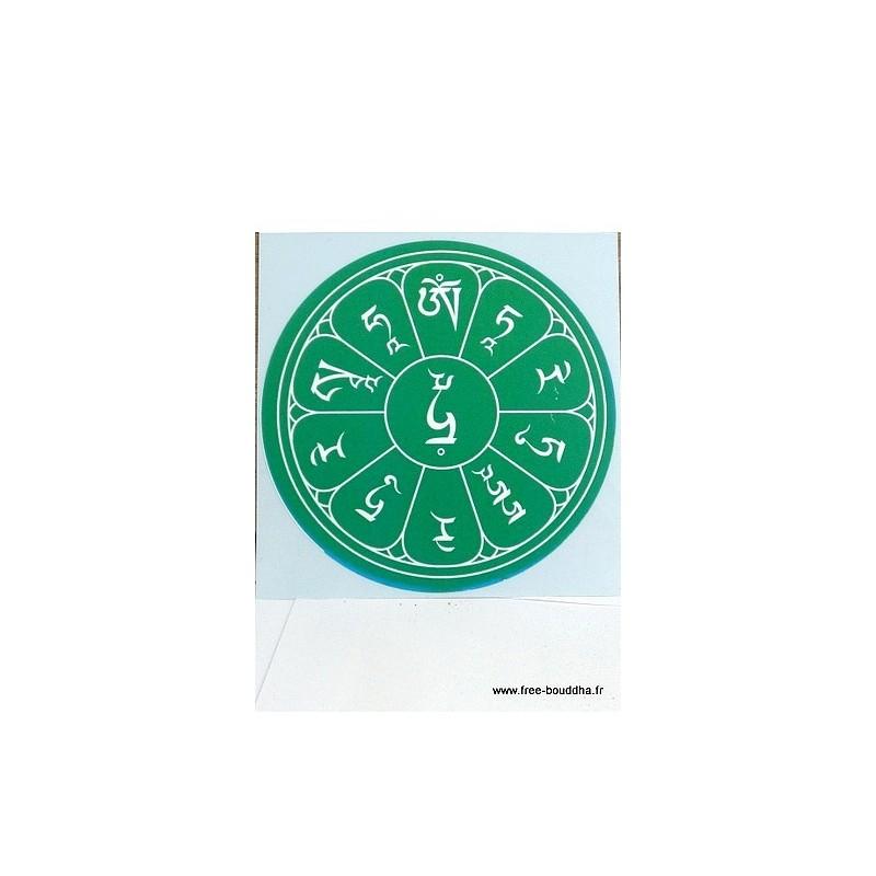 Sticker adhésif MANTRA DE TARA AUTO4