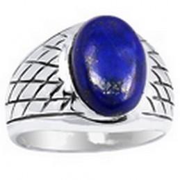 Bague Chevalière pour Homme en Lapis Lazuli KB21