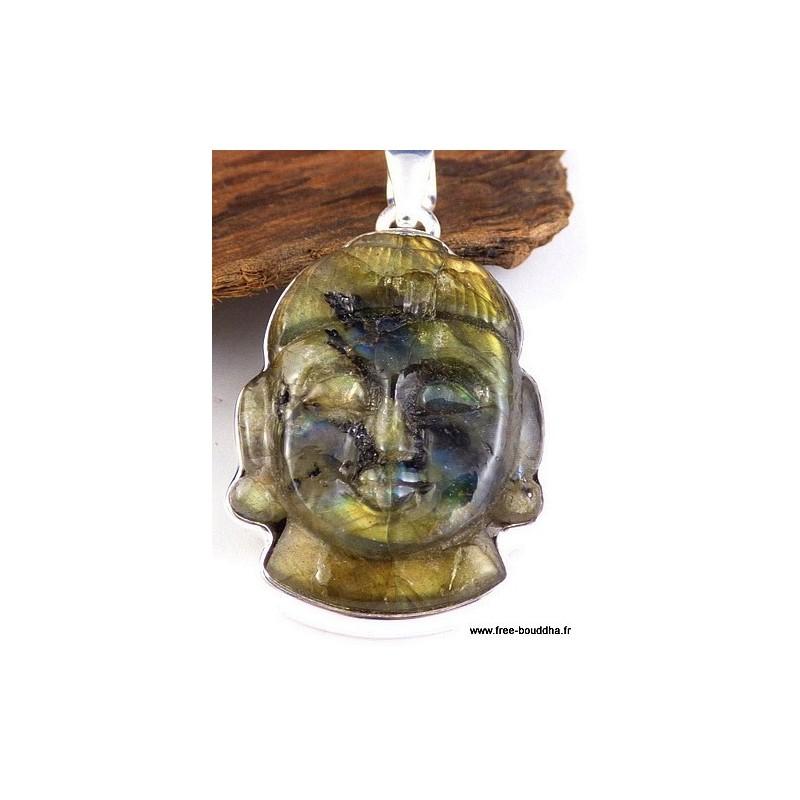 pendentif bouddha labradorite