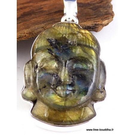 Bouddha sculpté en Labradorite