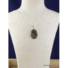 Bouddha sculpté en Labradorite Pendentifs pierres naturelles JA3.9