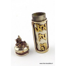 Pendentif tibétain Mantra de Chenrezi Bijoux tibetains bouddhistes  TUB4