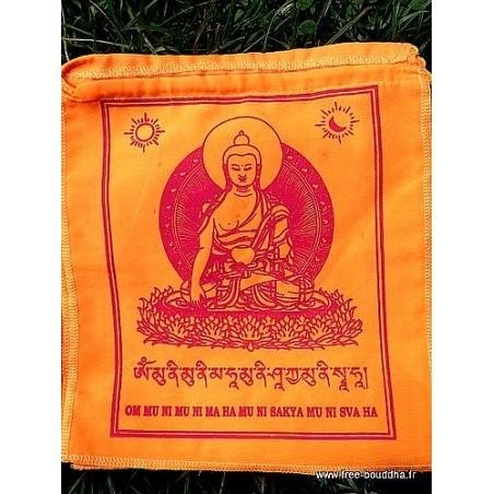 Drapeaux tibétains Bouddha Sakyamouni