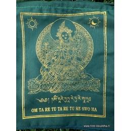 Drapeaux tibétains Tara Verte