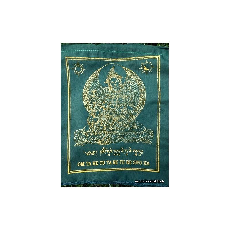 Drapeau-tibetain-tara-verte