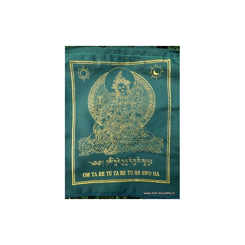 Drapeaux tibétains Tara Verte DRAT3