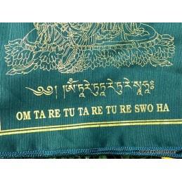Drapeaux tibétains Tara Verte Drapeaux tibétains DRAT3