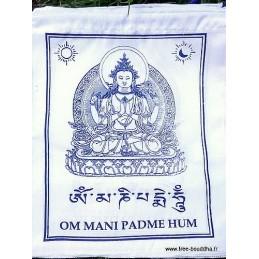Drapeaux tibétains Om Mani Pedme Hum