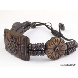 Bracelet tibétain Noeud infini Bijoux tibetains bouddhistes  OY3