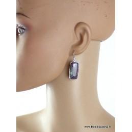 Boucles d'oreilles Rubis sur cyanite Boucles d'oreilles en pierres JEW58