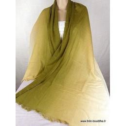 Châle laine et cachemire vert PLC1