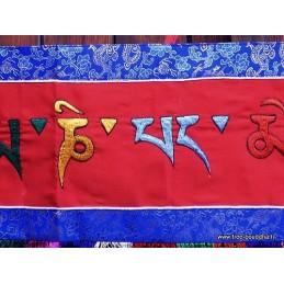 Tenture tibétaine OM MANI PEDME HUM OMPH8