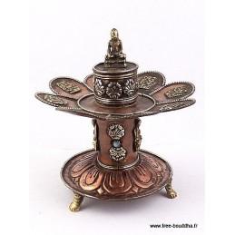 Brûleur d'encens tibétain Signes auspicieux DBLESA4