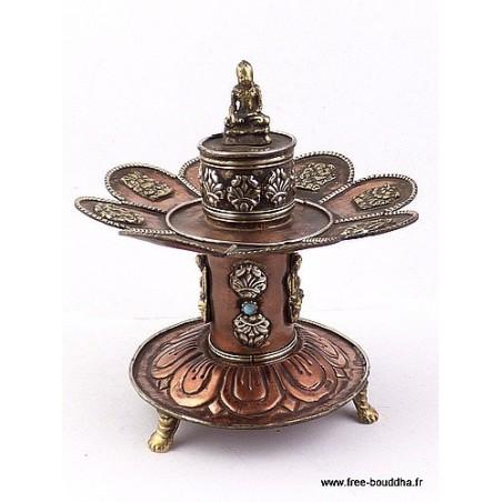 Brûleur d'encens tibétain deux en un
