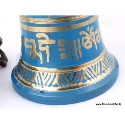 Cloche et dorjé tibétain 12.5 cm CDBleu