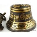 Cloche et dorjé tibétain 12.5 cm CDNoir