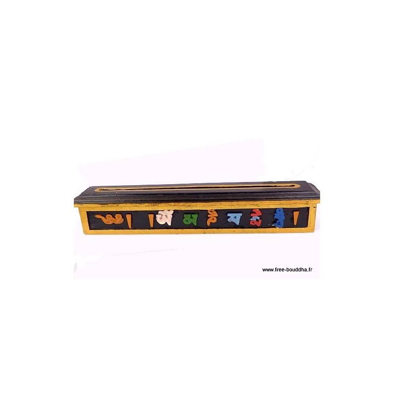 Brûle encens tibétain en bois ref4000.2