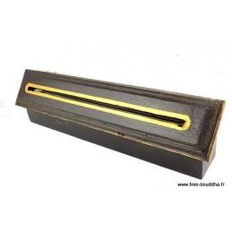 Brûle encens tibétain peint en bois ref4000.2